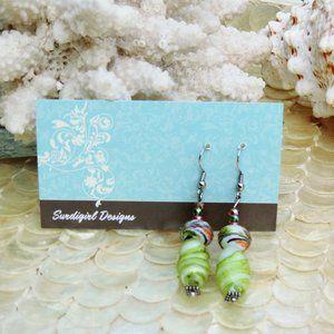 Artisan Surdigirl - Lampwork, Fancy Glass Earrings